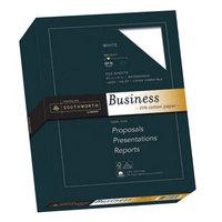 Southworth SOU403C 8 1/2 inch x 11 inch White 20# 25% Cotton Business Paper, Letter