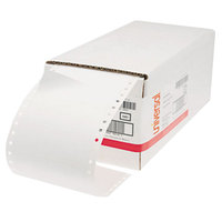 Universal UNV70112 4 inch x 1 7/16 inch White Dot Matrix Printer Mailing Labels - 5000/Box