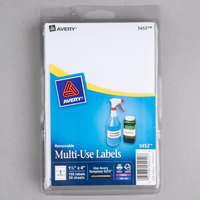 Avery 05452 1 1/2 inch x 4 inch White Rectangular Removable Write-On / Printable Labels - 150/Pack
