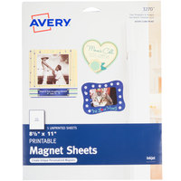 Avery 3270 8 1/2 inch x 11 inch Printable Magnet Sheets - 5/Pack