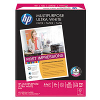 Hewlett-Packard 112000CT 8 1/2 inch x 11 inch White Ream of 20# Multipurpose Paper - 10/Case