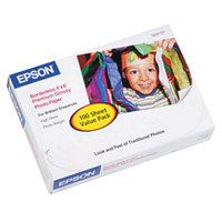 Epson S041727 4 inch x 6 inch High-Gloss Premium Pack of 68# Photo Paper - 100/Sheets