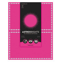 Astrobrights 91107 8 1/2 inch x 11 inch Fireball Fuchsia / Silver Foil-Enhanced Pack of 65# Certificate Paper - 30/Sheets