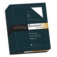 Southworth SOU13C 8 1/2 inch x 11 inch White 20# 100% Cotton Business Paper