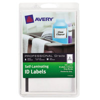 Avery 00746 2 3/4 inch x 3 3/4 inch White with Gray Border Rectangular Write-On Self-Laminating ID Labels - 8/Pack