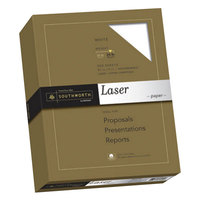 Southworth 3172410 8 1/2 inch x 11 inch White 25% Cotton 24# Laser Paper - 500/Pack