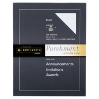 Southworth P964CK336 8 1/2 inch x 11 inch Blue Pack of 24# Parchment Specialty Paper - 100/Sheets