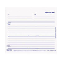 Rediform Office 44902 7 inch x 8 1/2 inch 3-Part Carbonless Speed Letter - 250/Pack