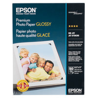 Epson S041667 8 1/2 inch x 11 inch High-Gloss Premium Pack of 68# Photo Paper - 50/Sheets
