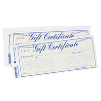 Rediform Office RED98002 Blue and Gold Gift Certificate with Envelope - 25/Pack