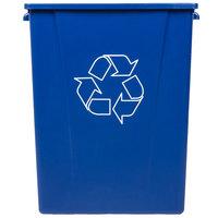 Carlisle 344056REC14 56 Gallon Blue Recycling Trash Can