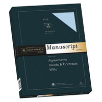 Southworth 41SM 9 inch x 12 1/2 inch Blue Box of 30# 25% Cotton Manuscript Cover Stock - 100/Pack