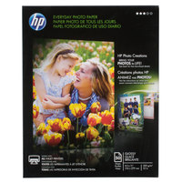 Hewlett-Packard Q8723A 8 1/2 inch x 11 inch Glossy Everyday Pack of 8 mil Photo Paper - 50/Sheets