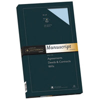 Southworth 41S 9 inch x 15 1/2 inch Blue Box of 30# 25% Cotton Manuscript Cover Stock - 100/Sheets