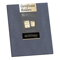 Southworth 98869 8 1/2 inch x 11 inch Gray Pack of Certificate Holders - 10/Sheets