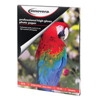 Innovera IVR99550 8 1/2 inch x 11 inch High-Gloss Pack of 10 mil Photo Paper - 50/Sheets