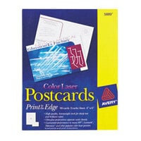 Avery 5889 4 inch x 6 inch White Printable Postcards - 80/Pack