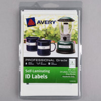 Avery 00747 2/3 inch x 3 3/8 inch White with Gray Border Rectangular Write-On Self-Laminating ID Labels - 24/Pack