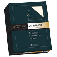 Southworth 3112616 8 1/2 inch x 11 inch Ivory Pack of 100% Cotton 24# Business Paper - 500/Sheets