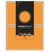 Astrobrights 91108 8 1/2 inch x 11 inch Cosmic Orange / Silver Foil-Enhanced Pack of 65# Certificate Paper - 30/Sheets