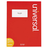 Universal UNV80004 2 inch x 4 inch White Permanent Laser and Inkjet Printer Labels - 2500/Box