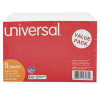 Universal UNV47235 4 inch x 6 inch White Ruled Index Cards - 500/Pack