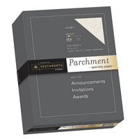 Southworth 984C 8 1/2 inch x 11 inch Ivory Box of 24# Parchment Specialty Paper   - 500/Sheets