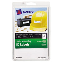 Avery 00760 3/4 inch x 3 1/4 inch White Rectangular Printable Self-Laminating ID Labels - 25/Pack