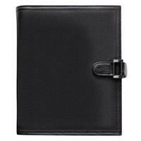 Day-Timer 44315 5 1/2 inch x 8 1/2 inch Black Soft Flex Leatherlike Vinyl Appointment Book Starter Set