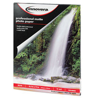 Innovera IVR99650 8 1/2 inch x 11 inch Matte Pack of 11 mil Heavy Weight Photo Paper - 50/Sheets
