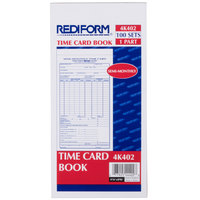 Rediform Office 4K402 Semi-Monthly Employee Time Card Book - 100 Sheets