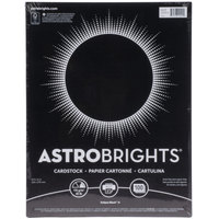Astrobrights 2202401 8 1/2 inch x 11 inch Eclipse Black Pack of 65# Smooth Color Paper Cardstock - 100 Sheets