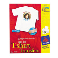 Avery 3275 8 1/2 inch x 11 inch Printable Light Pack of T-Shirt Transfers - 12/Sheets