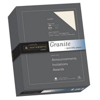 Southworth 934C 8 1/2 inch x 11 inch Ivory Box of 24# 25% Cotton Granite Specialty Paper   - 500/Box