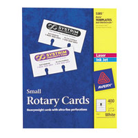 Avery 5385 2 1/6 inch x 4 inch White Small Rotary Cards - 400/Pack