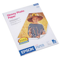 Epson S041141 8 1/2 inch x 11 inch Glossy Pack of 60# Photo Paper - 20/Sheets