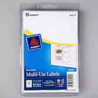 Avery 05422 1/2 inch x 1 3/4 inch White Rectangular Removable Write-On / Printable Labels - 840/Pack