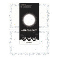 Astrobrights 91110 8 1/2 inch x 11 inch Stardust White / Silver Foil-Enhanced Pack of 65# Certificate Paper - 30/Sheets