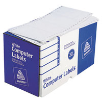 Avery 4076 2 15/16 inch x 5 inch White Dot Matrix Shipping Labels   - 3000/Box