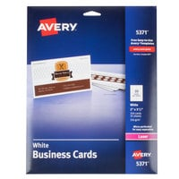 colors avery 5371 2 inch x 3 12 inch uncoated white microperf business cards - Bulk Business Cards