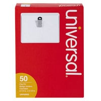 Universal UNV56003 2 1/4 inch x 3 1/2 inch Clip-On Badge Holder
