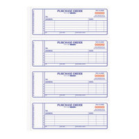 Rediform Office 1L176 2 3/4 inch x 7 inch 2-Part Carbonless Purchase Order Book with 400 Sheets