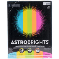 Astrobrights 99904 8 1/2 inch x 11 inch Bright Assorted Pack of 65# Smooth Color Paper Cardstock - 250 Sheets