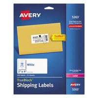 Avery 5263 TrueBlock 2 inch x 4 inch White Shipping Labels - 250/Pack