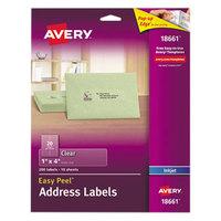 Avery 18661 Easy Peel 1 inch x 4 inch Clear Inkjet Printer Address Labels - 200/Pack