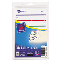 Avery 5235 2/3 inch x 3 7/16 inch Removable Assorted Color File Folder Labels - 252/Pack