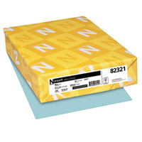 Neenah 82321 Exact 8 1/2 inch x 11 inch Blue Pack of 67# Vellum Paper Cover Stock - 250/Pack