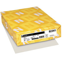 Neenah 82341 Exact 8 1/2 inch x 11 inch Gray Pack of 67# Vellum Paper Cover Stock - 250/Pack