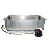 APW Wyott BM-80CD UL Listed Bottom Mount 12 inch x 20 inch Insulated Hot Food Well with Drain and Square Corners - 208/240/277V, 900/1200/1600W