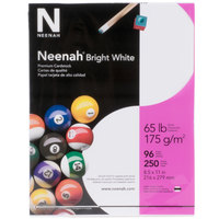 Neenah 91904 8 1/2 inch x 11 inch Bright White Pack of 65# Smooth Paper Cardstock - 250/Pack